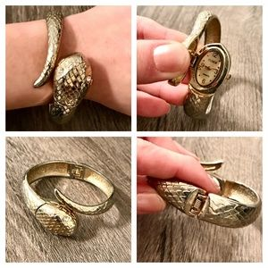 Golden Snake Watch Cuff